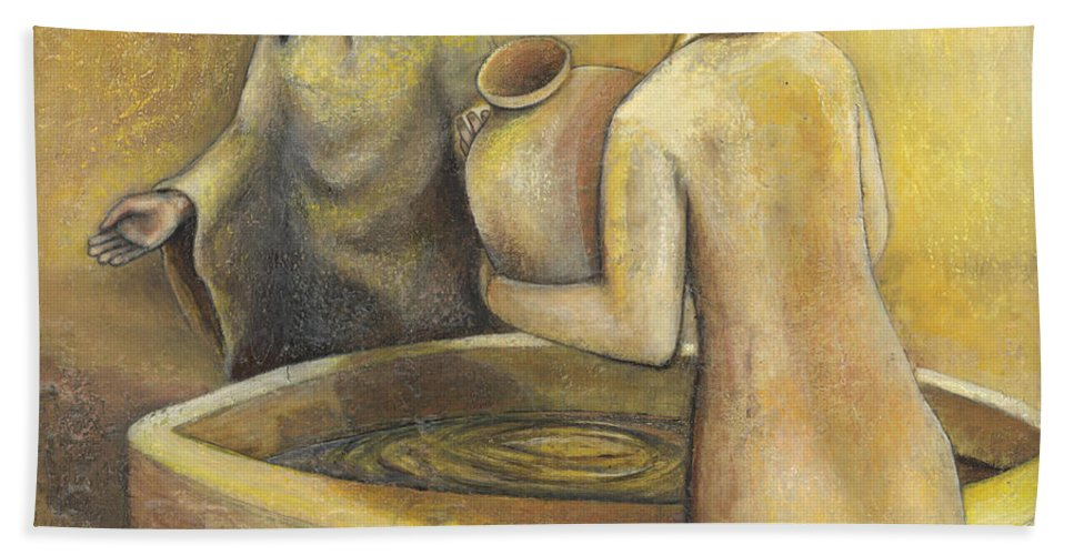 Samaritan Hand Towel featuring the painting 'where Grace Finds You' by Whitney Tomlin