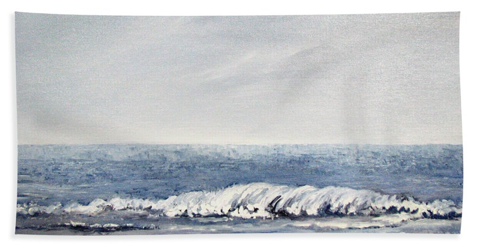 Seascape Hand Towel featuring the painting Where I Want To Be by Todd Blanchard