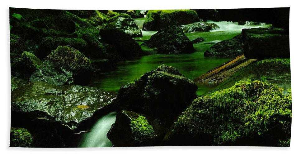 Rivers Hand Towel featuring the photograph Where Solace Abounds by Jeff Swan