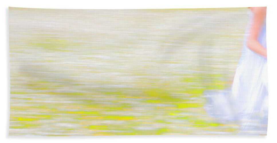 Impressionism Bath Sheet featuring the photograph Wherever She Ran by Theresa Tahara