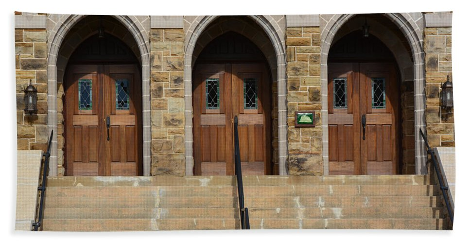Door Hand Towel featuring the photograph Which Door Will You Choose by Barb Dalton