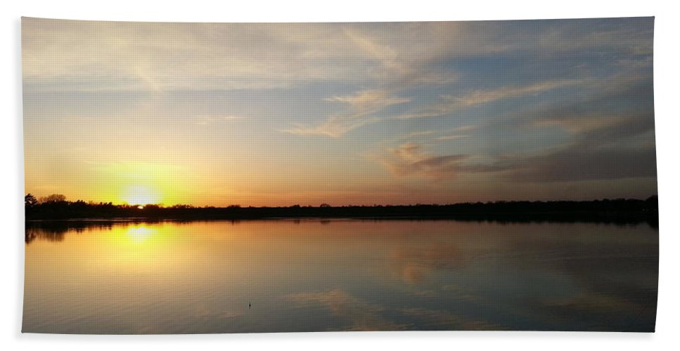 Lake Bath Sheet featuring the photograph Which Way Is Up by Caryl J Bohn