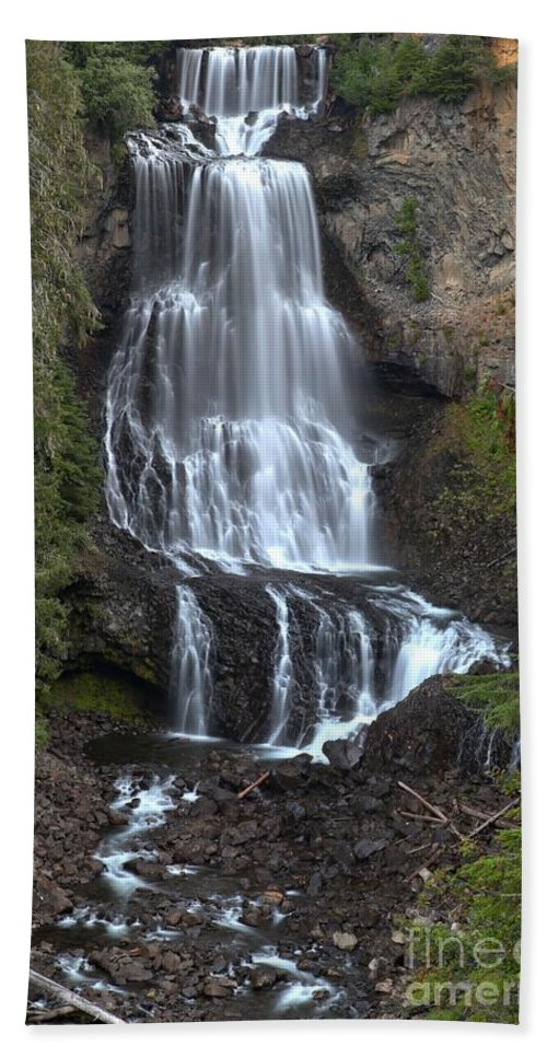 Alexander Falls Bath Sheet featuring the photograph Whistler Waterfalls - Alexander Falls by Adam Jewell
