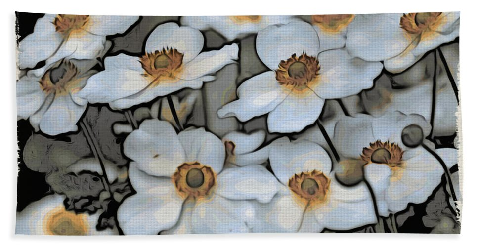 Flowers Bath Sheet featuring the photograph White And Yellow by Alice Gipson