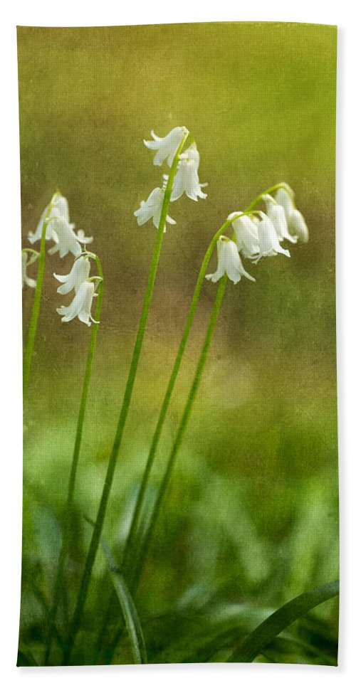 Whitebells Hand Towel featuring the photograph White Bells by Mary Jo Allen