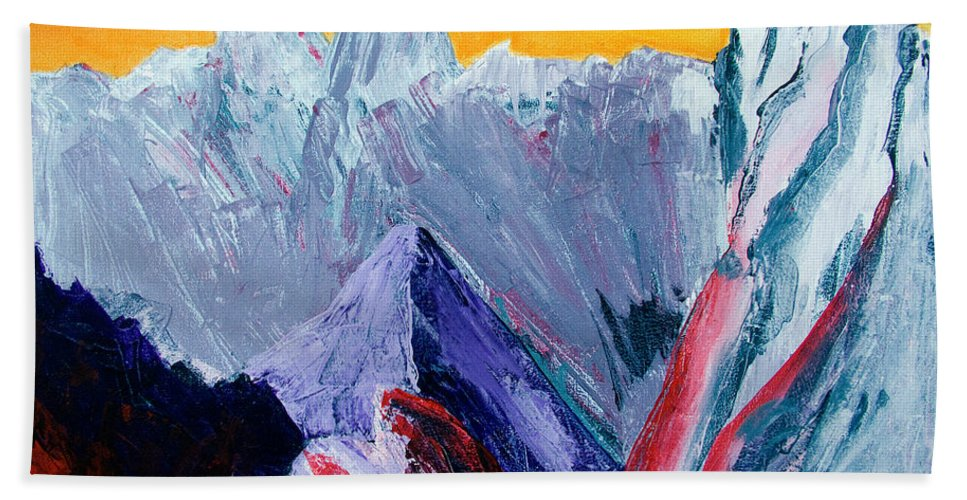 Mountains Painting Hand Towel featuring the painting White Canyon by Kandyce Waltensperger