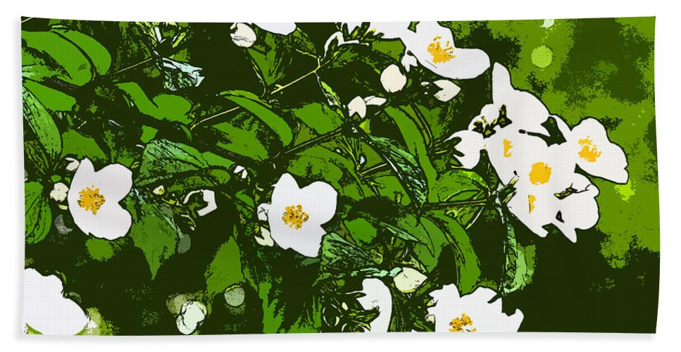Bloom Photographs Hand Towel featuring the photograph White Flowers II by Sotiris Filippou