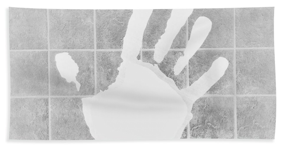 Hand Hand Towel featuring the photograph White Hand White by Rob Hans