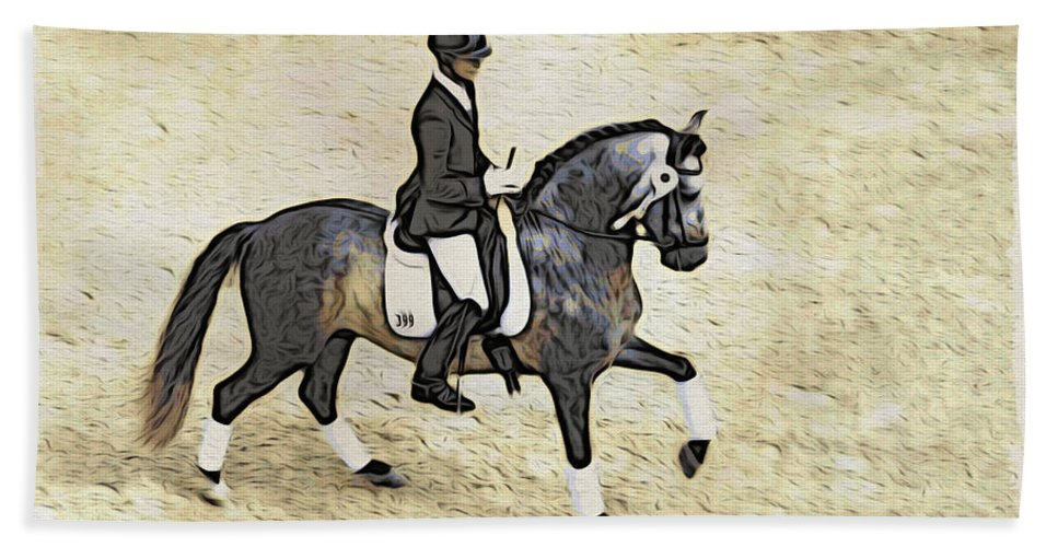 Horse Bath Sheet featuring the photograph White Ribboned Gray by Alice Gipson