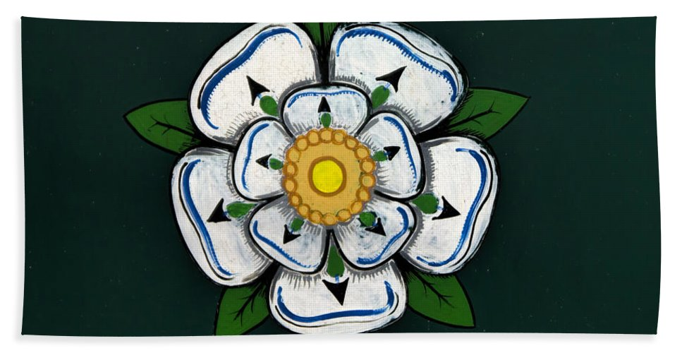 White Bath Sheet featuring the photograph White Rose Of York by Gillian Singleton