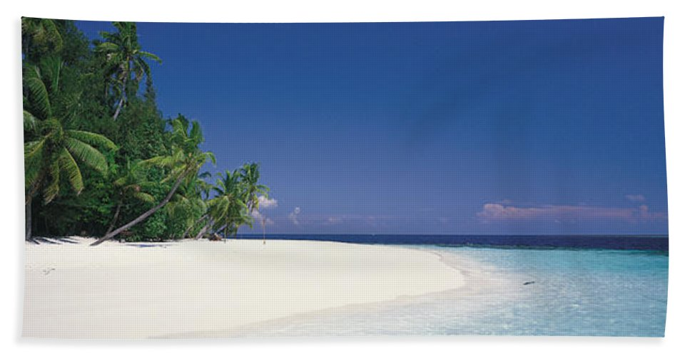 Photography Hand Towel featuring the photograph White Sand Beach Maldives by Panoramic Images