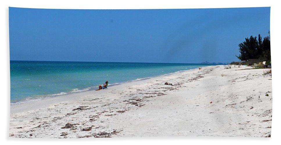 Florida Bath Sheet featuring the photograph White Sandy Beach by Gary Wonning