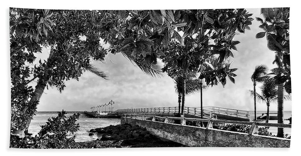 White Street Pier Hand Towel featuring the photograph White Street Pier Key West by Joan Minchak