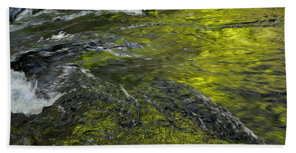 Lush Bath Sheet featuring the photograph Whitehorse Falls Series 1 by Teri Schuster