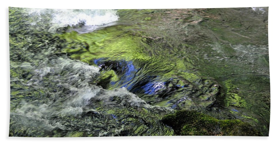 Water Bath Sheet featuring the photograph Whitehorse Falls Series 4 by Teri Schuster