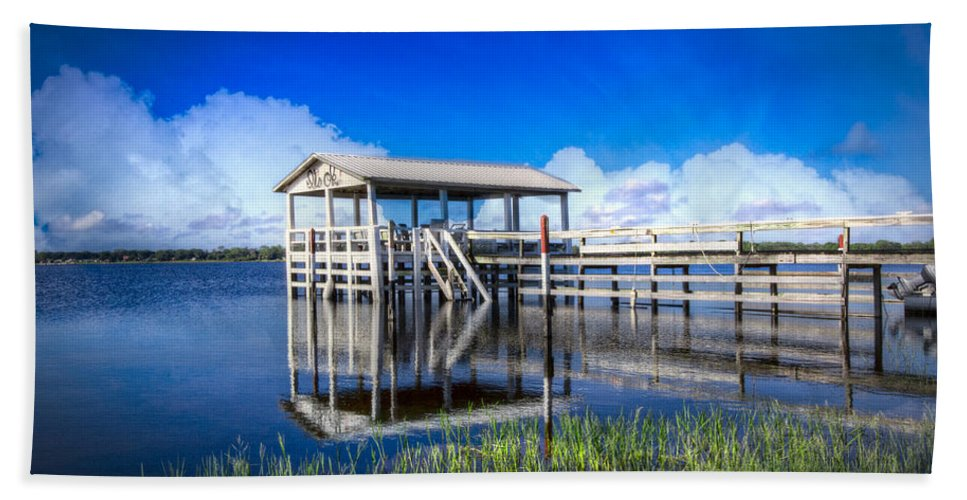 Clouds Bath Sheet featuring the photograph Whites And Blues by Debra and Dave Vanderlaan