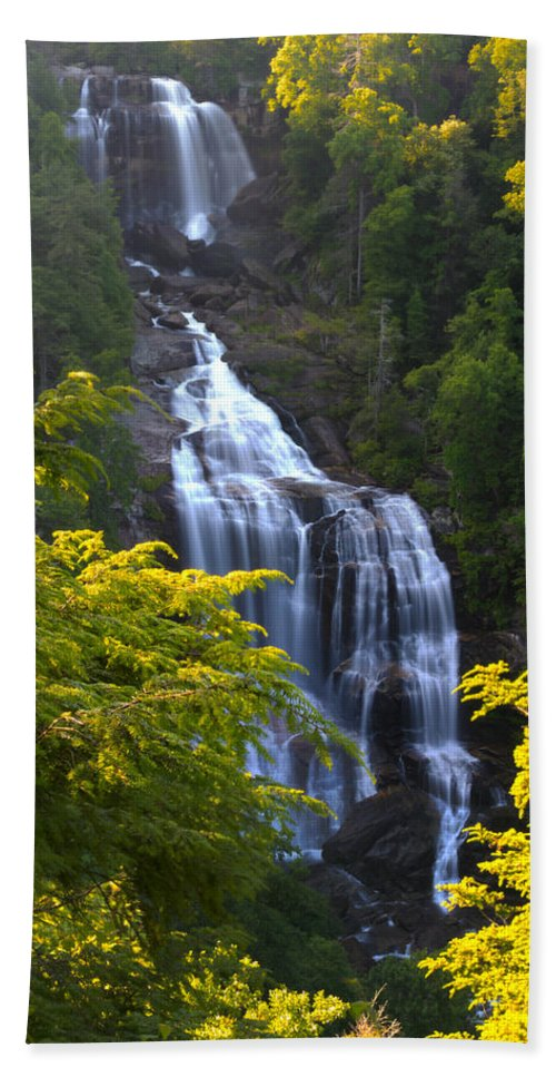Whitewater Falls Bath Sheet featuring the photograph Whitewater Falls by Nunweiler Photography