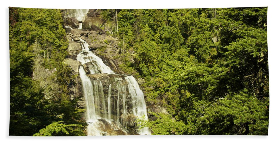 Appalachian Mountains Bath Sheet featuring the photograph Whitewater Falls by Phill Doherty
