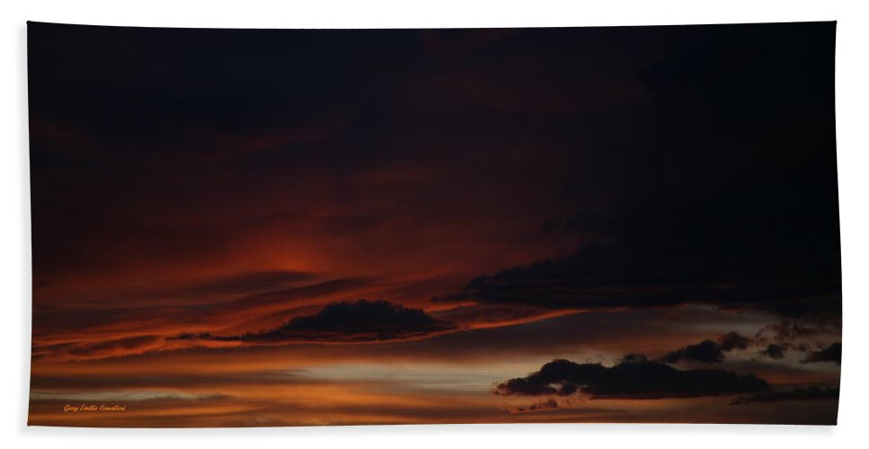 Sunset Bath Sheet featuring the photograph Whitewater Sunset by Gary Emilio Cavalieri