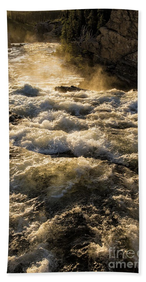 Glacier Hand Towel featuring the photograph Whitewater by Timothy Hacker
