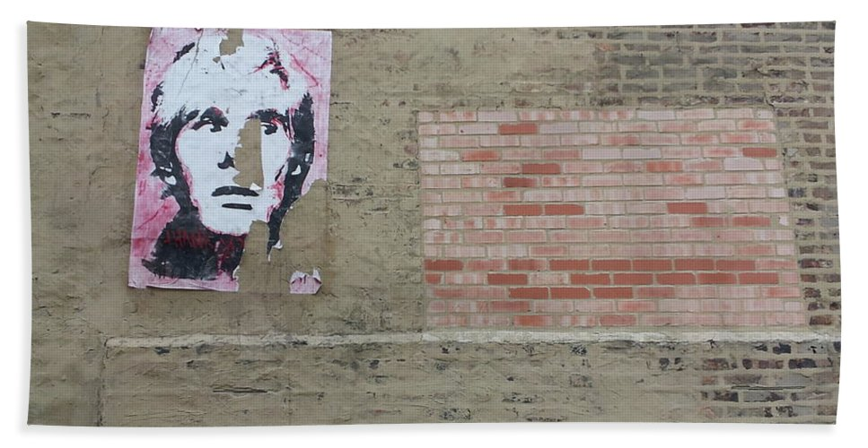 Street Art Hand Towel featuring the photograph Who Dat? by Zac AlleyWalker Lowing