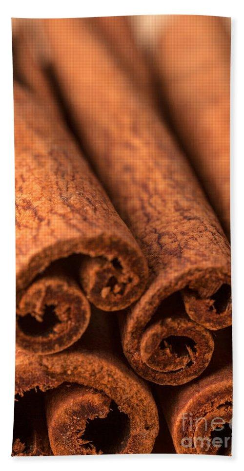 Iris Holzer Richardson Bath Sheet featuring the photograph Whole Cinnamon Sticks by Iris Richardson