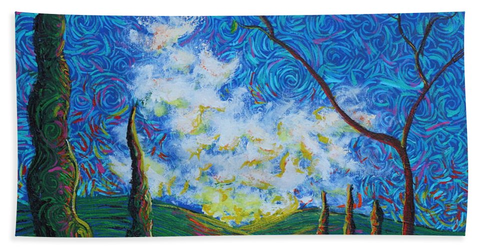Landscape Hand Towel featuring the painting Why by Stefan Duncan