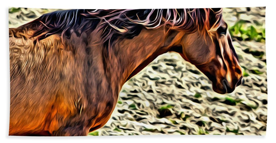 Horse Bath Sheet featuring the photograph Wild Bronc by Alice Gipson