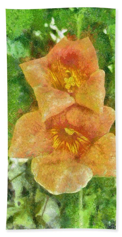 Bloom Bath Towel featuring the painting Wild Flowers by Jeffrey Kolker
