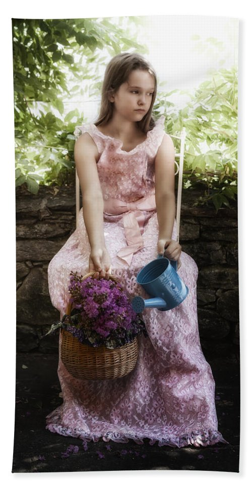 Girl Bath Sheet featuring the photograph Wild Flowers by Joana Kruse