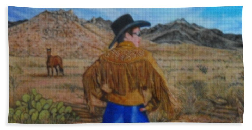 New Bath Sheet featuring the painting Wild Girls Of The West by James Welch