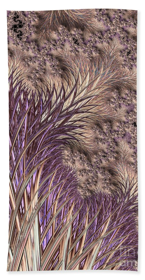 Background Hand Towel featuring the digital art Wild Grasses Blowing In The Breeze by Heidi Smith
