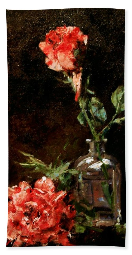 Floral Hand Towel featuring the painting Wild Irish by Jim Gola