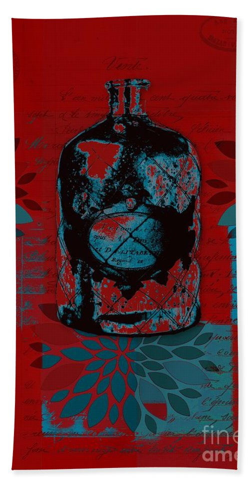 Red Hand Towel featuring the digital art Wild Still Life - 0101a - Red by Variance Collections