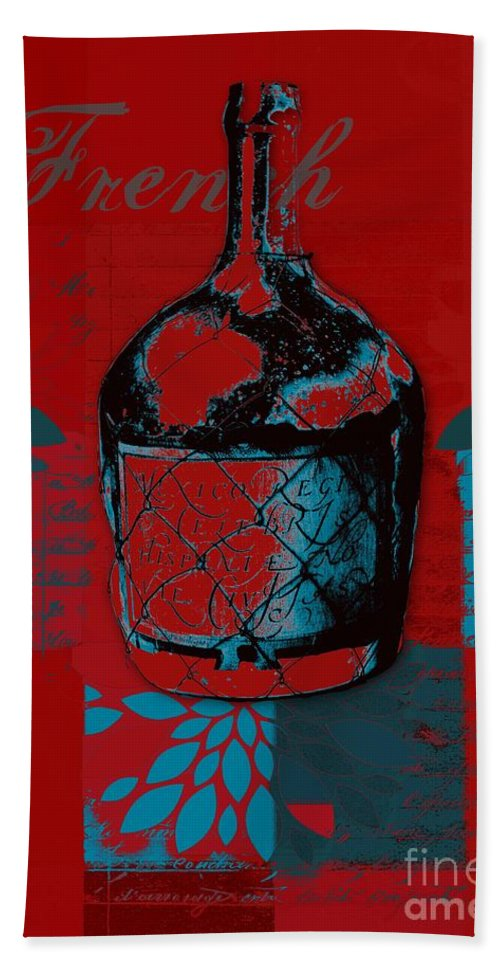 Red Hand Towel featuring the digital art Wild Still Life - 0102b - Red by Variance Collections