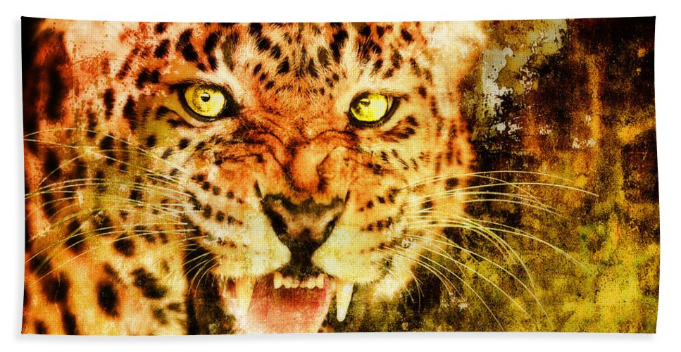 Wild Hand Towel featuring the digital art Wild Threat by Lyriel Lyra