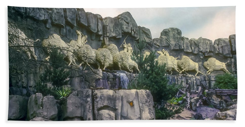Legoland Billund Denmark Lego Legos Tree Trees Replica Replicas Artwork Odds And Ends Hand Towel featuring the photograph Wild West by Bob Phillips