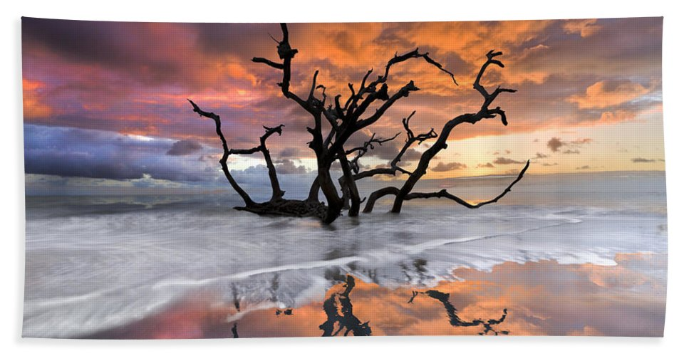 Clouds Hand Towel featuring the photograph Wildfire by Debra and Dave Vanderlaan