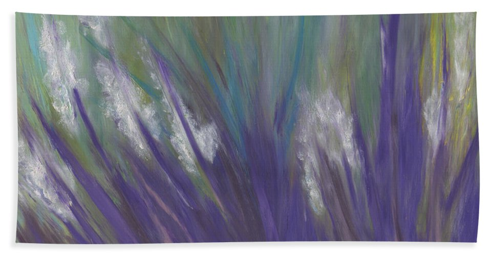 First Star Art Bath Sheet featuring the painting Wildflowers By Jrr by First Star Art