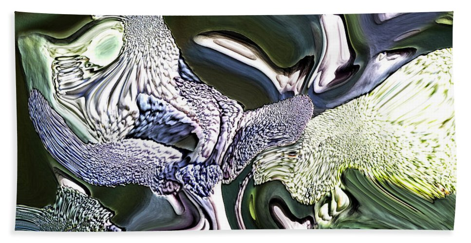 Abstract Bath Sheet featuring the digital art Wildwood by Richard Thomas