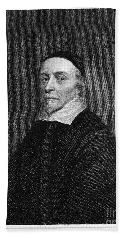 16th Century Bath Sheet featuring the photograph William Harvey (1578-1657) by Granger