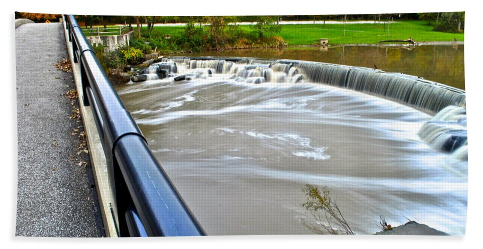 Waterfall Bath Sheet featuring the photograph Willy Wonkas Chocolate Falls by Frozen in Time Fine Art Photography