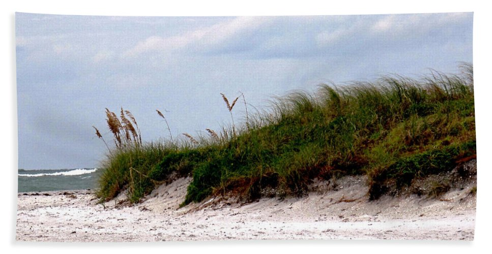 Beach Hand Towel featuring the photograph Wind In The Seagrass by Ian MacDonald