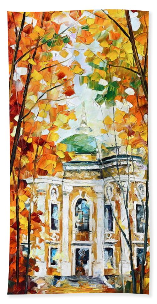 Afremov Bath Sheet featuring the painting Wind Of Dreams 2 by Leonid Afremov