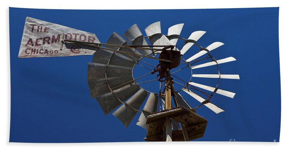Travel Hand Towel featuring the photograph Windmill Aermotor Company by Jason O Watson
