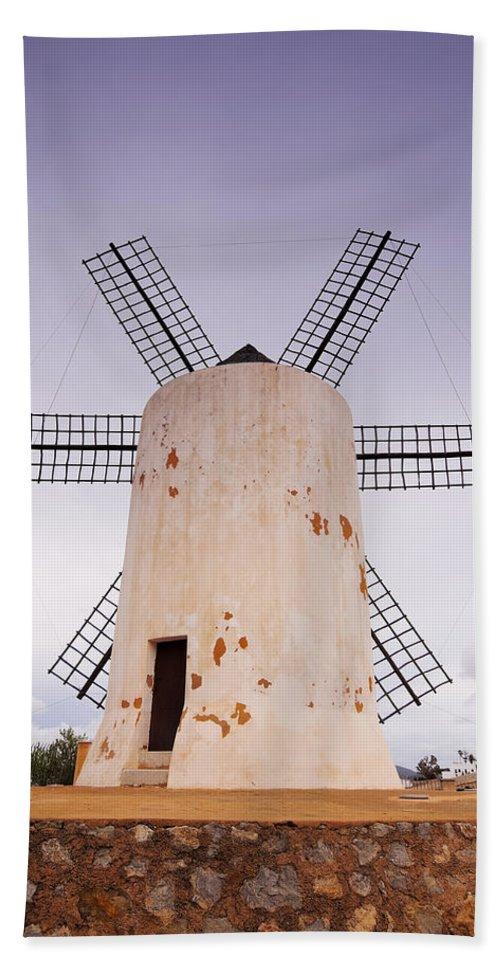 Windmill Bath Sheet featuring the photograph Windmill by Karol Kozlowski