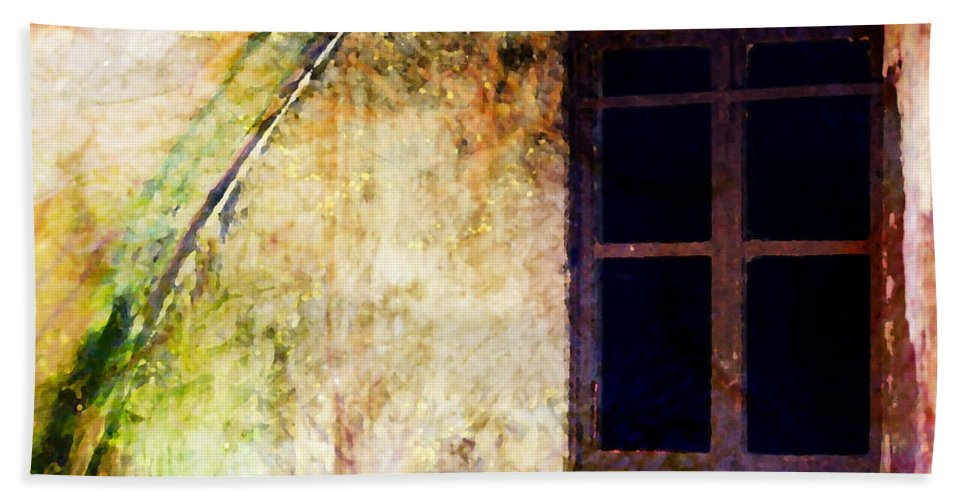 Window Bath Sheet featuring the photograph Window - Water Color - Fort by Marie Jamieson