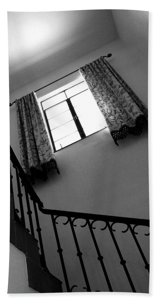 Stairs Hand Towel featuring the photograph Window And Stairs by Joe Kozlowski