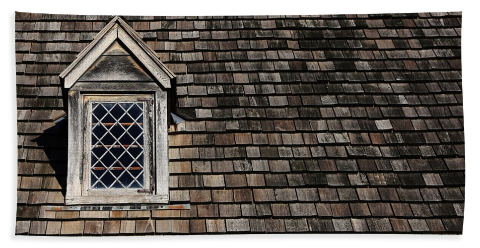 Roof Hand Towel featuring the photograph Window On Squares by Karol Livote