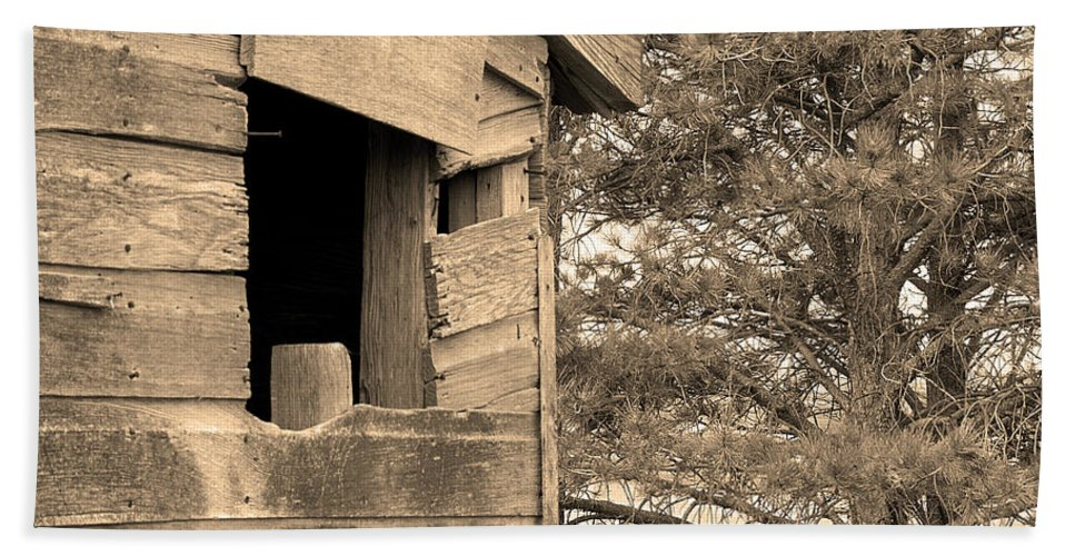 Window Hand Towel featuring the photograph Window To Nowhere - Sepia by Cindy Angiel